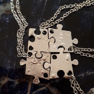 Jewelry - Puzzle necklaces set of 4 NWT